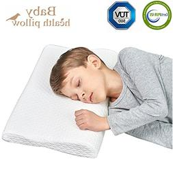 Toddler Memory Foam Pillow for Sleeping with Pillowcase Neck