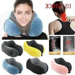 Travel Neck Pillow Memory Foam U-shaped Neck Support Headres