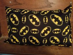 "Travel Pillow 17""x11 New Made in USA Batman adult child grea"