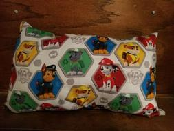 "Travel Pillow 17""x11 New Made in USA Paw Patrol child can be"
