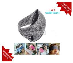 Travel Pillow And Eye Mask, 2 in 1, Super Soft Neck Support