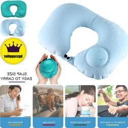 Travel Pillow Foldable Inflatable U-shaped Neck Rest Soft Ai