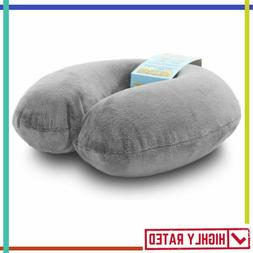 TRAVEL PILLOW for Head Neck Chin Support Airplane Car Sleepi