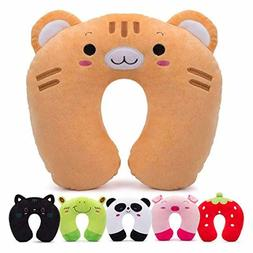 Travel Pillow for Kids Toddlers Soft Neck Head Chin Support