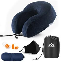 Travel pillow neck pillow with carrying case, sleeping mask,