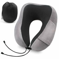 Travel Pillow Portable Memory Foam Neck Pillow for Airplane