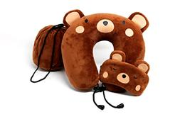 Travel Pillow Sleep Mask Neck Pillows Gifts for Kids Teddy B