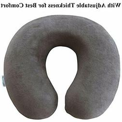 TravelMate Memory Foam Neck Pillow, Grey Home &amp Kitchen