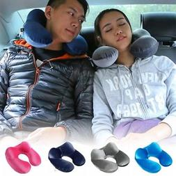 U Shape Inflatable Daydreamer Neck Pillow w/ Airplane Travel