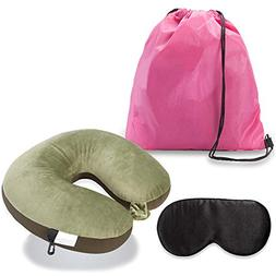 LONGBLE Travel U shape Neck Pillow Comfortable Reading Sleep