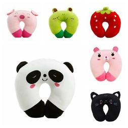 U Shape Toy Animal Pillow For Baby Kid Travel Car Seat Neck