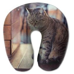 Lesi Yes U Shaped Neck Pillow Memory Foam Soft Cat Indoor Ou