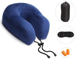 Neck Protective Travel Pillow, Ultra Comfort Memory Foam and