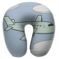 Beto Home Vintage Airplane U Shaped Travel Neck Pillow Porta