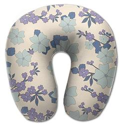 Beto Home Vintage Floral Pattern U Shaped Travel Neck Pillow