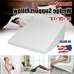 Wedge Pillow Memory Foam Body Elevate Support Positioner Bac