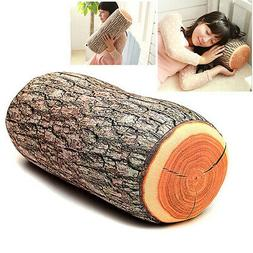Wood Log Shape Soft Car Seat Head Rest Body Neck Support Thr