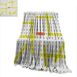 Anyangeight Word Search Puzzle Throw Blanket Unified Modelin