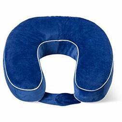 World's Best Cushion-Soft Memory Foam Neck Pillow, Cobalt Ho