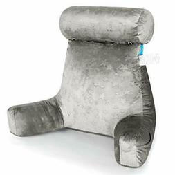 ZOEMO Bed Rest Reading Pillow, Big Bedrest Pillows with Arm